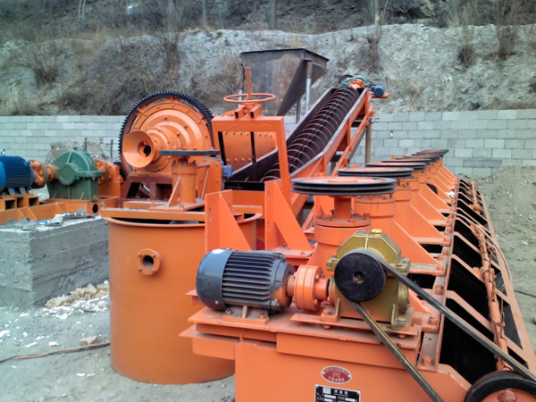 manganese ore machine at site