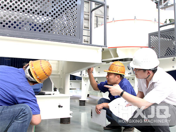 Inspection on Sand Making Machine before Delivery