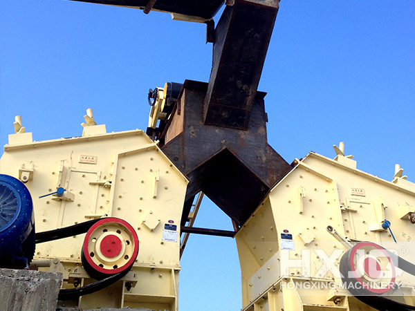 Impact Crusher at Site