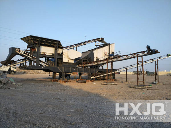 mobile crusher at site